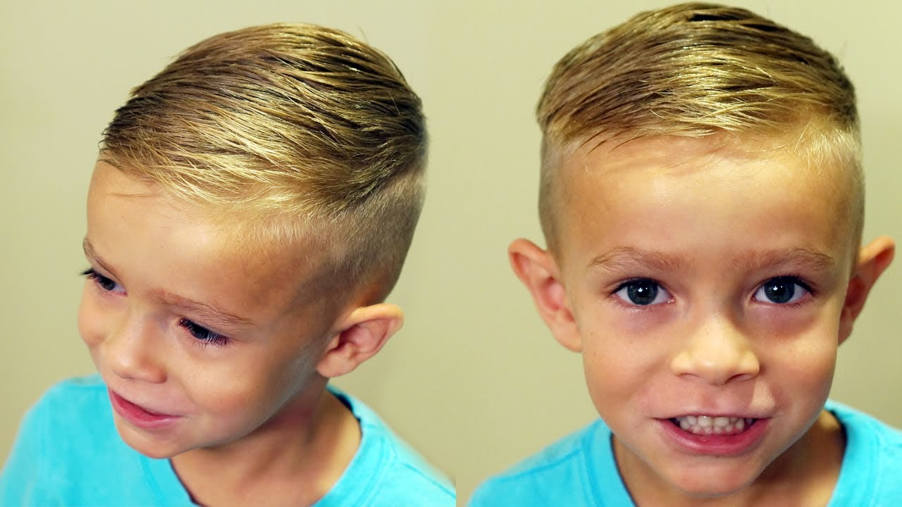 How To Cut Boys Hair Trendy Boys Haircut Tutorial Youtube