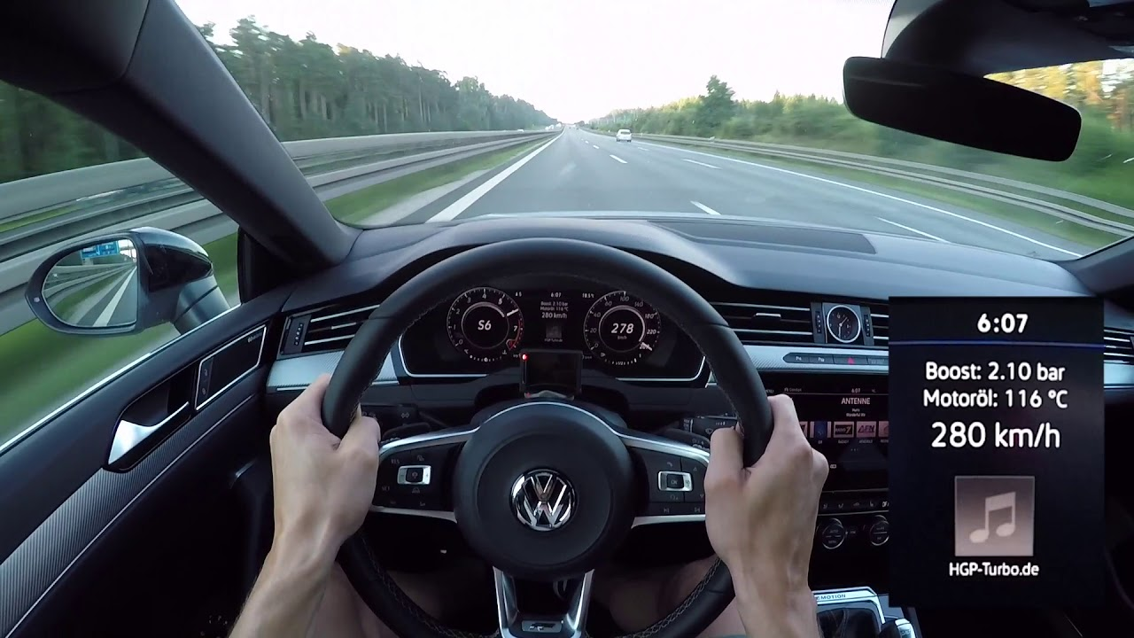 POV-Style: Highspeed im Volkswagen Arteon 2.0 TSI (480 PS) by HGP-Turbo/ Autobahn Edition 300 ...