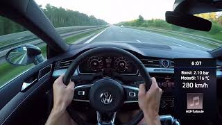 POV-Style: Highspeed im Volkswagen Arteon 2.0 TSI (480 PS) by HGP-Turbo/ Autobahn Edition 300+ 🏁✌🏼
