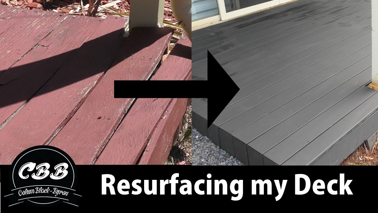 Sehr I Resurfaced my Deck - Plastic/Bamboo Composite - Ekodeck - YouTube XP93