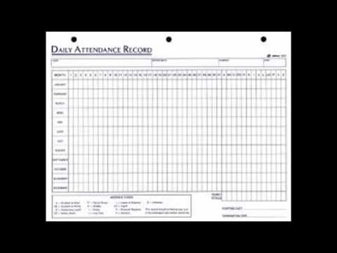 Daily Employee Attendance Sheet in Excel Template - YouTube - attendance sheet excel template