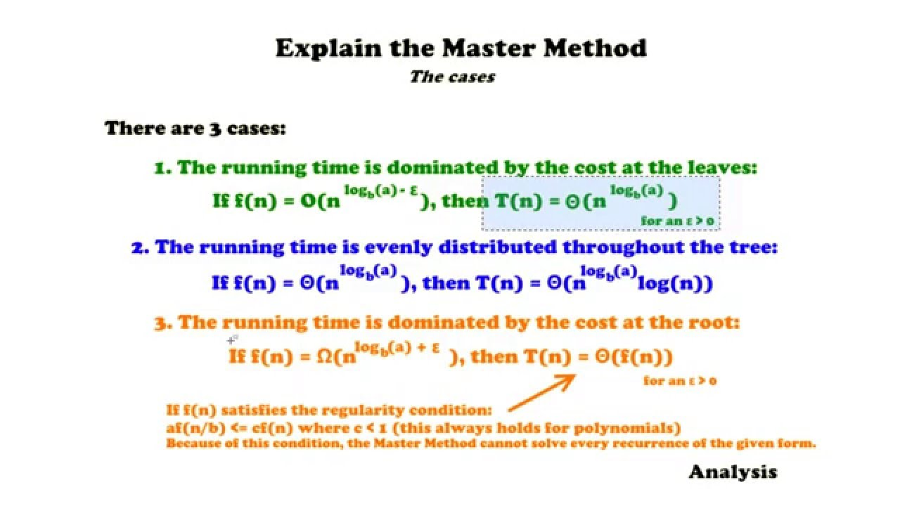 Master Method Incl Step By Step Guide And Examples Analysis
