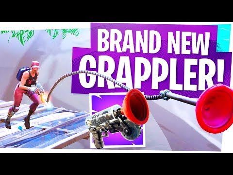 The NEW Grappler Gun Is AWESOME! - Fortnite New Item, Update And Location Gameplay! - Dusty Diner!