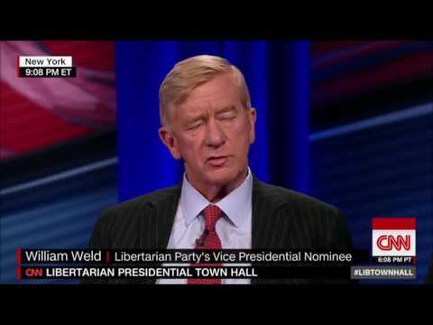 CNN Libertarian President Townhall II - Gary Johnson & William Weld - 08-03-2016 (HD)