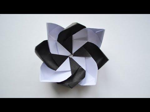 Wonderful Black and White Flower Paper Origami Tutorial DIY