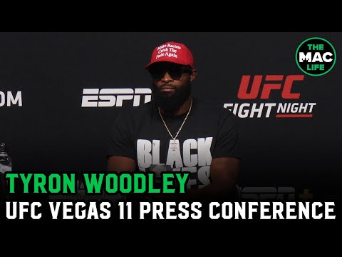 "Tyron Woodley Answers Every Question At Presser With ""Black Lives Matter"" 