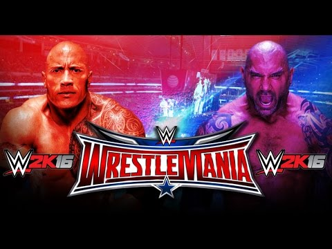 The Rock Vs. Batista - WrestleMania 32...