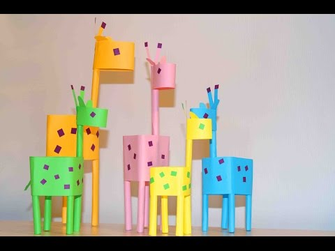 Paper crafts for kids Paper Little Giraffes EASY PAPER DIY IDEAS Recycled Decoration!