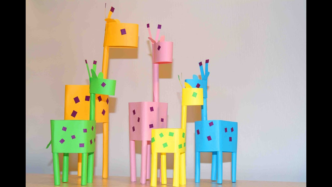 Paper Crafts For Kids Little Giraffes EASY PAPER DIY IDEAS