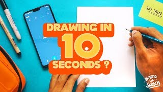the 10 MINUTE, 1 MINUTE, 10 SECOND DRAWING CHALLENGE | BTS Ep02