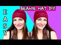 How to Make a Beanie Hat without a Pattern! Sewing Easy DIY Beanie Hat Tutorial -
