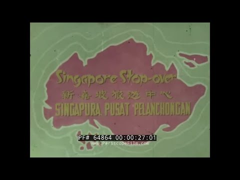 1960s QANTAS AIRLINES   SINGAPORE TRAVELOGUE MOVIE  64864