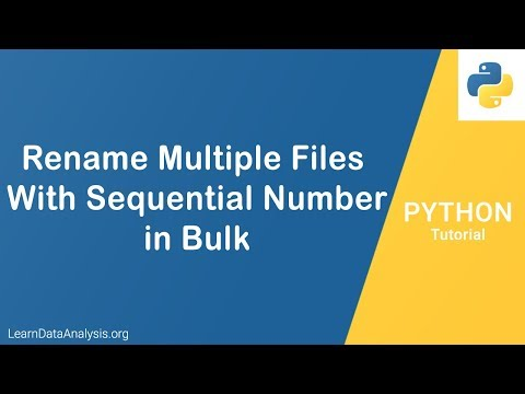 Renaming Multiple Files In Bulk With Sequence Numbers in Python | Python Tutorial thumbnail