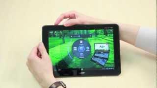 Видео обзор планшета Acer Iconia Tab A701(Acer Iconia Tab A700 и A701 - новые планшеты Acer. Это устройства с 10-дюймовыми дисплеями с разрешением 1920 x 1200 пикселей..., 2012-07-25T19:47:52.000Z)