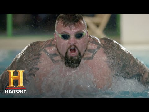 The Strongest Man In History: Swimming Challenge | Exclusive | History