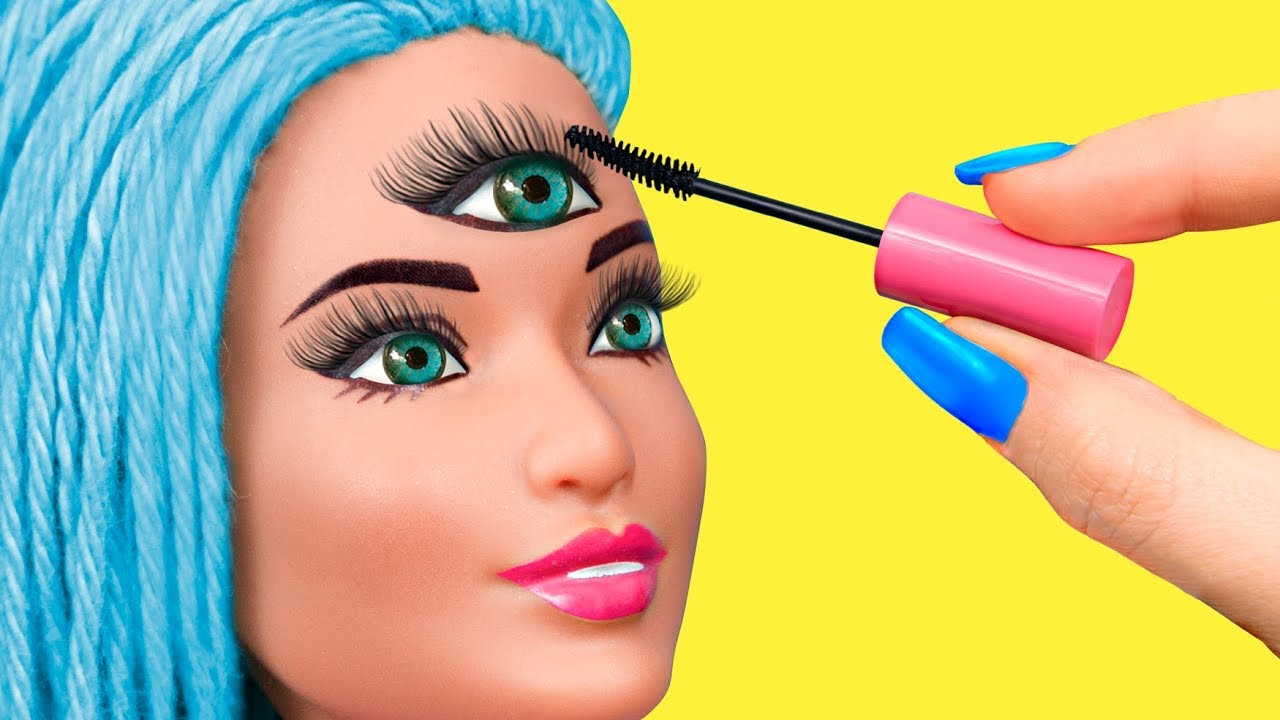 14 Barbie Beauty Salon Hacks And Crafts Youtube