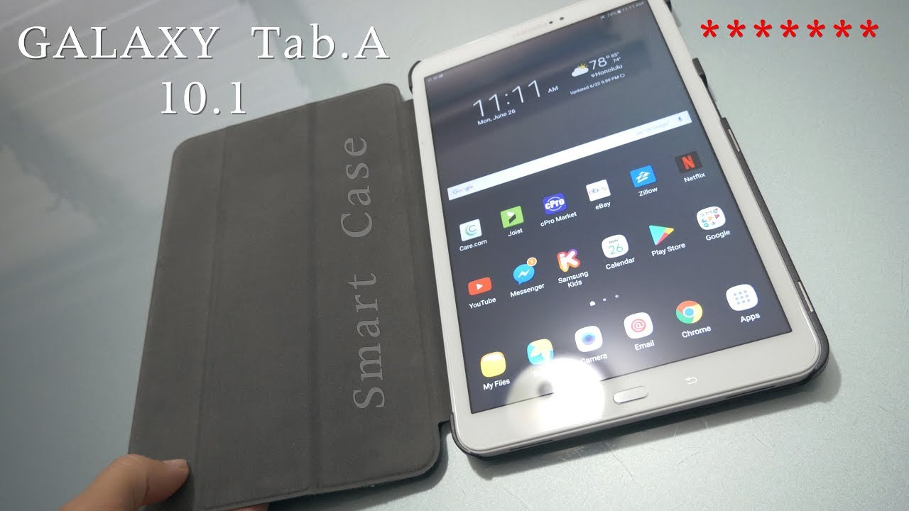 wholesale dealer 618cd fbf04 Fintie Samsung Galaxy Tab A 10.1 Smart Shell Case