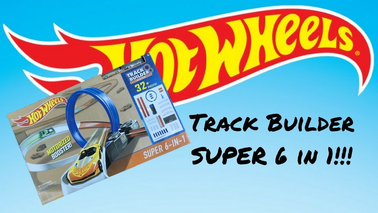 b24a23239801a Hot Wheels Track Builder Set Super 6 in 1 Review - YouTube