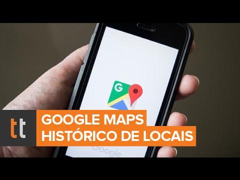 Como saber o histórico de localização do Google Maps