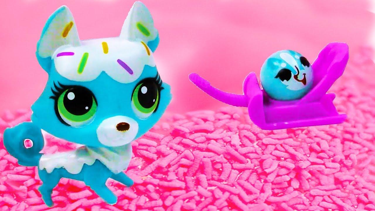 Lps Wallpaper Cute Littlest Pet Shop Frosting Sprinkle Husky Dog And Rolleroo