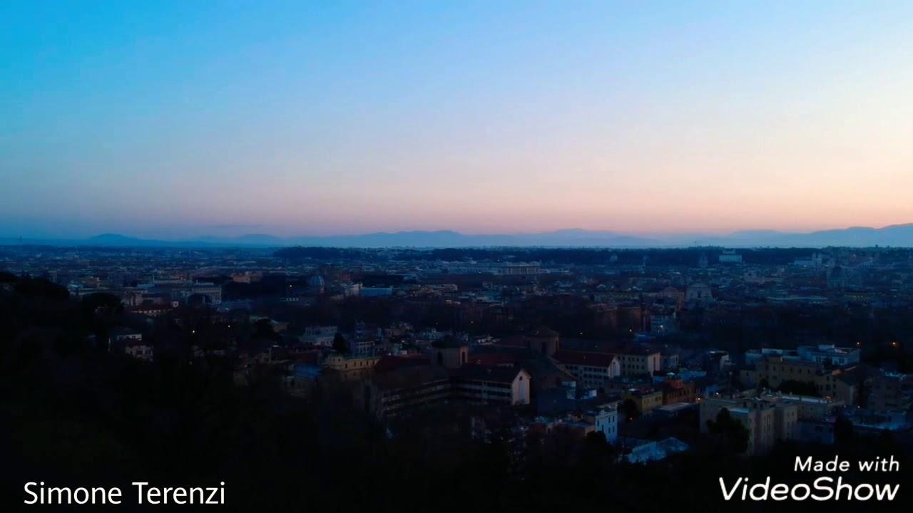 Alba Al Gianicolo Roma Dji Spark Drone Marzo 2018
