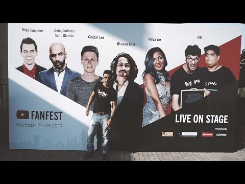 YouTube FanFest 2017 India | YTFF | JioGarden Mumbai | MSK vlogs #40