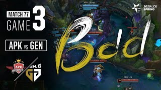 APK vs GEN | Match77 Game3 H/L | 2020 LCK Spring