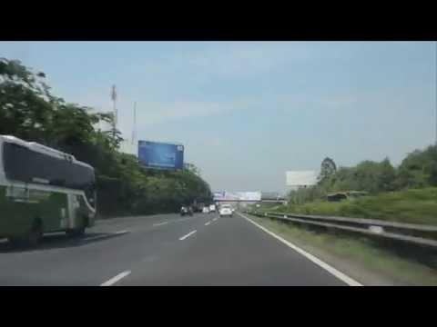 Jakarta Merak Toll Road drive westbound (Jalan Tol Jakarta Merak)