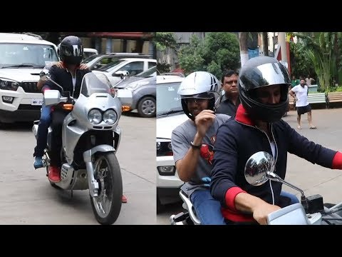 Akshay Kumar Arrives On BIKE At Women's Self Defense Graduation Event