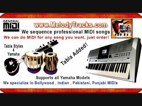Indian Hindi Bollywood Pakistani MIDI songs - We sequence MIDI on demand