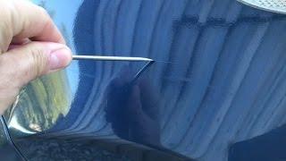 Comment effacer les rayures tournevis / clef sur peinture vernis voiture ou moto.