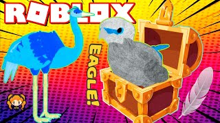 ROBLOX FEATHER FAMILY SURPRISE HIDDEN EAGLE TREASURE!! + CRANE! Baby Eaglet vs Adult
