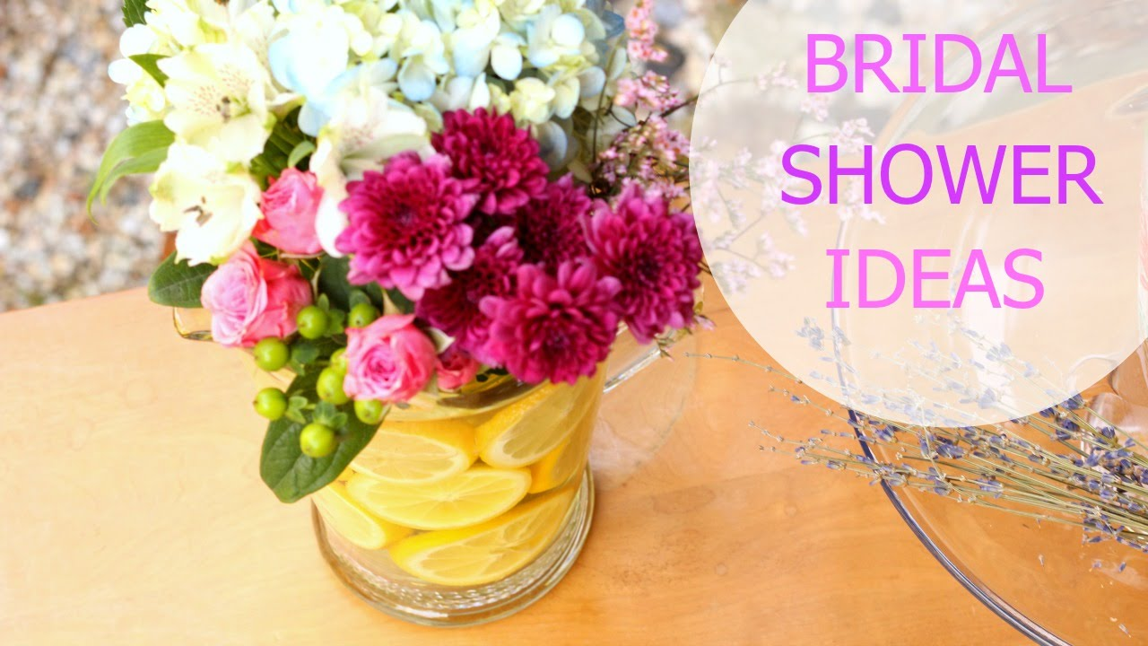 how to host a bridal shower favors food drinks decor more katie bookser youtube
