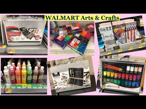 WALMART Arts And Crafts Section|Art Paint Supplies Shopping| Shop With Me At Walmart
