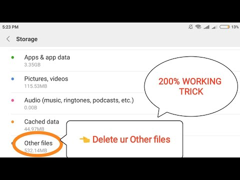 How to delete other files in redmi note 4 | any mobile