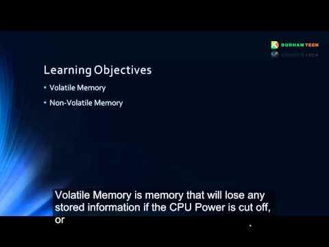 Video 6 (Volatile/Non-Volatile Memory)