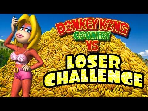 SEXY BANANA PHOTO SHOOT (Donkey Kong Country Versus Loser Challenge)