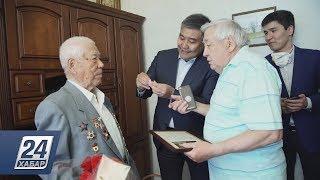 В Украине поздравили ветерана Великой Отечественной войны из Казахстана