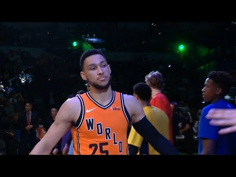 Team World Introduction / Team World vs Team USA / 2018 NBA Rising Stars Game
