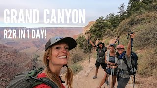 Grand Canyon Rim to Rim Hike in One Day - Vlog with timelines, weather, & tips