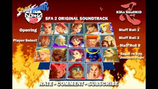 Street Fighter Alpha 2 - All character Themes Interactive (HD)