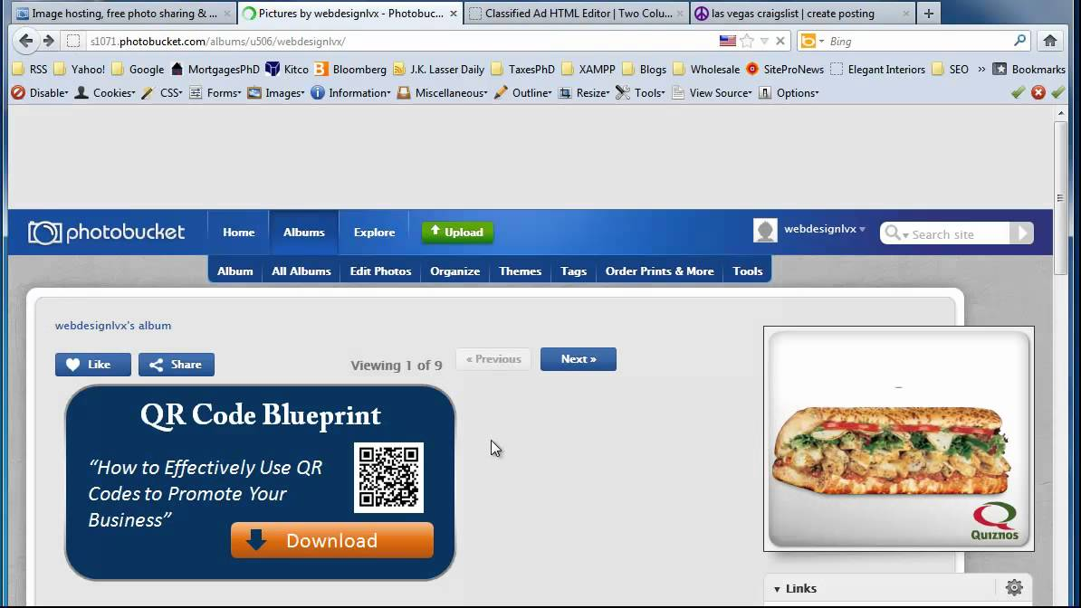 Using Images from Photobucket in Your Craigslist Ad Templates - YouTube