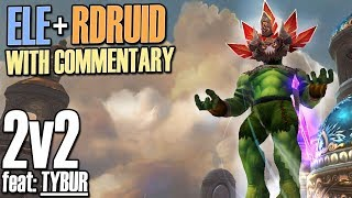 🤠8.1.5 Elemental 2v2 Explained feat: Tybur - Elemental Shaman PvP [BFA]