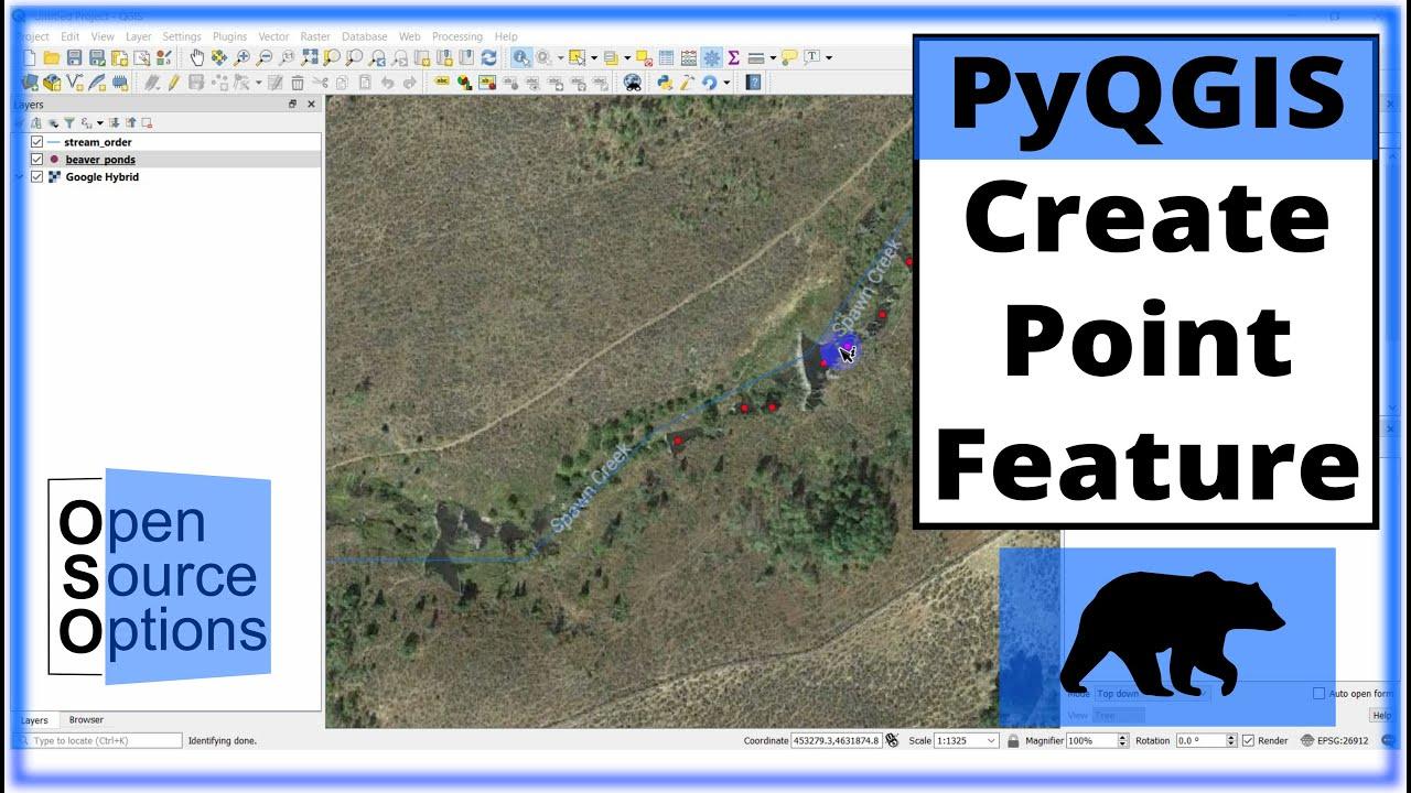 QGIS Python (PyQGIS) - Create features (point)