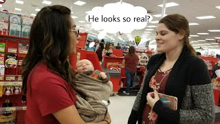 Shopping With Ultra Realistic Reborn Baby Doll - REACTIONS