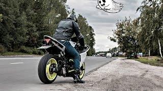 Night riding on motorcycles || Ночной прохват на мотоциклах  по Москве