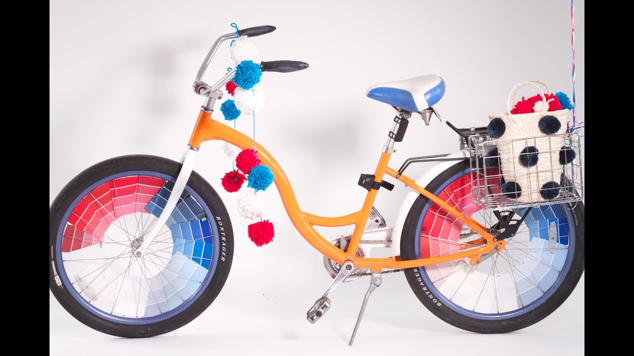 Diy Bike Decorating With Paint Chips