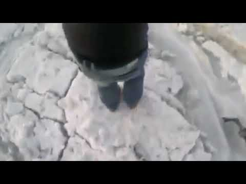 Man records walking across frozen Cape May Canal