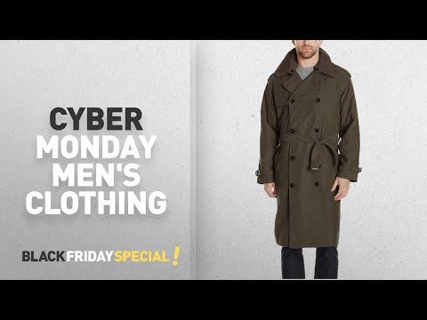 Cyber Monday London Fog Men's Clothing: London Fog Men's Double Breasted Belted Iconic Trench Coat,