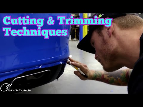 How To Cut And Trim Vinyl Wrap. Cutting And Trimming Techniques